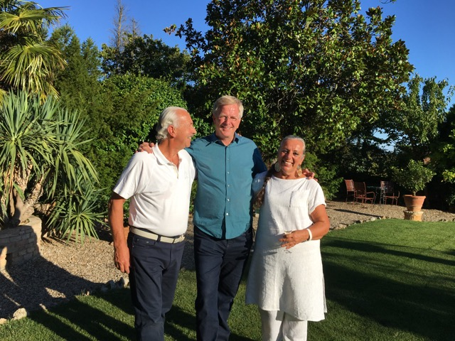 Your hosts with …. a special friend during his last visit